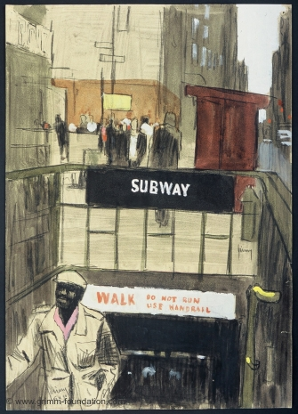 Gerd Grimm, Subway, New York